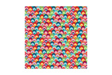 Bright Shells Background Print by Pink Pueblo