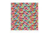 Bright Shells Background Print by Pink Pueblo