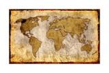 World Map-Vintage Artwork Art by  ilolab