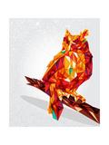 cienpies - Owl Bird Geometric Illustration Obrazy