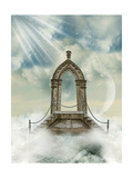 Arch With Stairway In The Sea Posters by  justdd