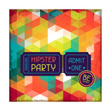 Hipster Background In Retro Style Print by  incomible