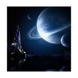 Landscape In Fantasy Planet Print by  frenta