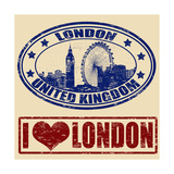 London Stamps Posters by  radubalint