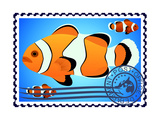Clown Fish. Postage Stamp Posters by  GUARDING-OWO