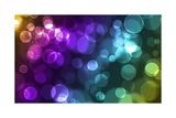 Abstract Glowing Circles Poster by  suti