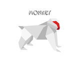 Illustration Of An Origami Monkey Posters by  unkreatives