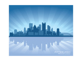 Pittsburgh, Pennsylvania Skyline Posters by  Yurkaimmortal