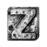 Metal Alloy Alphabet Letter Z Posters by  donatas1205