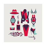 Woman Clothes And Accessories Posters by  yemelianova