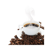 Coffee Border.Isolated On White Print by Subbotina Anna