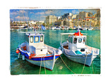 Greek Boats - Artistic Picture Plakater af Maugli-l
