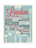 Melindula - London Typographical Background Plakát