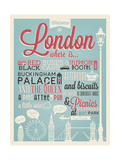 London Typographical Background Posters av  Melindula