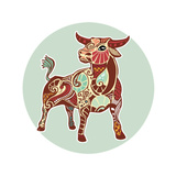 Zodiac Signs - Taurus Prints by  krasstin