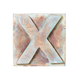 Wooden Alphabet Block, Letter X Posters by  donatas1205