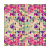 Vintage Hipsters Geometric Pattern Posters by  cienpies