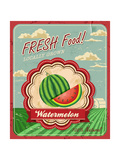 Retro Fresh Food Poster Design Poster by  Catherinecml