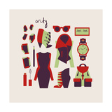 Woman Clothes And Accessories Prints by  yemelianova