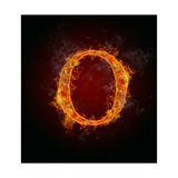 "Fire Flaming Letter ""O"" Posters by  Jag_cz"