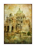 Parisian Basilica - Vintage Card Print by  Maugli-l