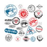 Rubber Stamps Swine Flu Grunge Plakater af Ints