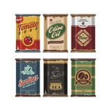 Retro Food Cans Collection Poster von  Lukeruk