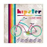 Hipster Background In Retro Style Premium Giclee Print by  incomible
