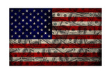American Flag And Dollars Print by  alexfiodorov
