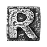 Metal Alloy Alphabet Letter R Posters by  donatas1205