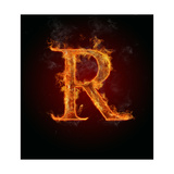 "Fire Flaming Letter ""R"" Prints by  Jag_cz"