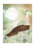 Fantasy Stairway Lámina por  justdd