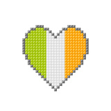 Pixel Block Irish Love Heart Poster by  wongstock