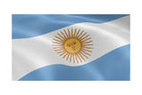 Argentina Flag In The Wind Poster by  nmcandre
