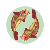 Zodiac Signs - Pisces Print by  krasstin
