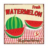 Watermelon Vintage Poster Print by  radubalint