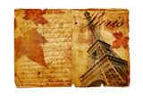 Romantic Vintage Letter From Paris Prints by  Maugli-l