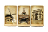 Paris - Vintage Cards Series Posters by  Maugli-l