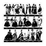 1800-1900 Fashion Silhouettes Posters by  Cicero96