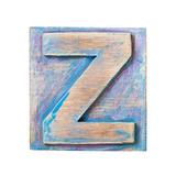 Wooden Alphabet Block, Letter Z Prints by  donatas1205