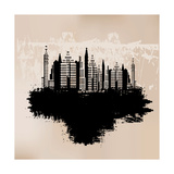 City Grunge Background Prints by  Petrafler