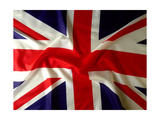 Closeup Of Union Jack Flag Print by  STILLFX