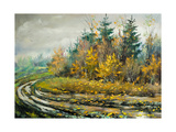 Impassable Road To Autumn Wood Prints by  balaikin2009