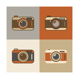 Flat Retro Camera Icons Posters by  YasnaTen