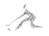 Hockey Pictogram With Black Words Kunstdrucke von  seiksoon