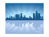 Detroit, Michigan Skyline Posters by  Yurkaimmortal
