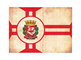 Grunge Flag Of Sao Paulo (Brazil) Prints by  cmfotoworks