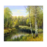 Autumn Landscape, Canvas, Oil Posters by  balaikin2009