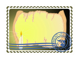 Postage Stamp. Paper And A Candle Posters by  GUARDING-OWO