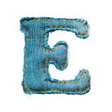 Handmade Letter Of Jeans Alphabet Posters by  smaglov